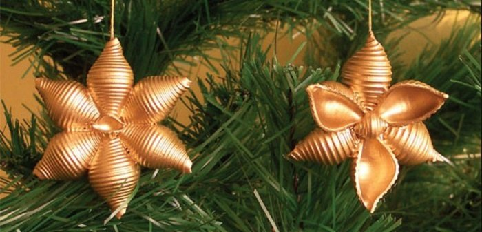 поделки из макарон на новый год