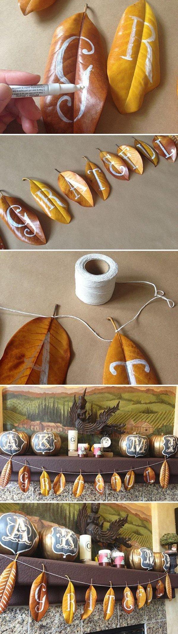 как сделать поделки из осенних листьев