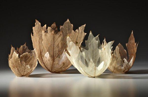 поделки из осенних листьев клена