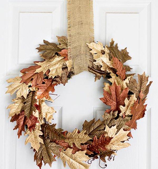поделки из осенних листьев картинки