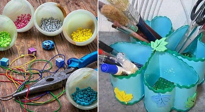 поделки из пластиковых бутылок и пробок