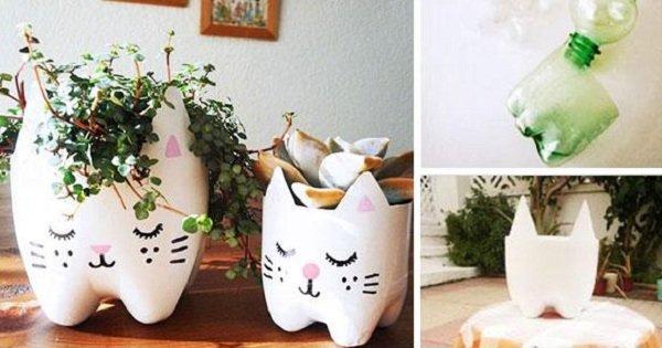 От красивых украшений до практичных вещей: 15 идей для использования пластиковых бутылок.
