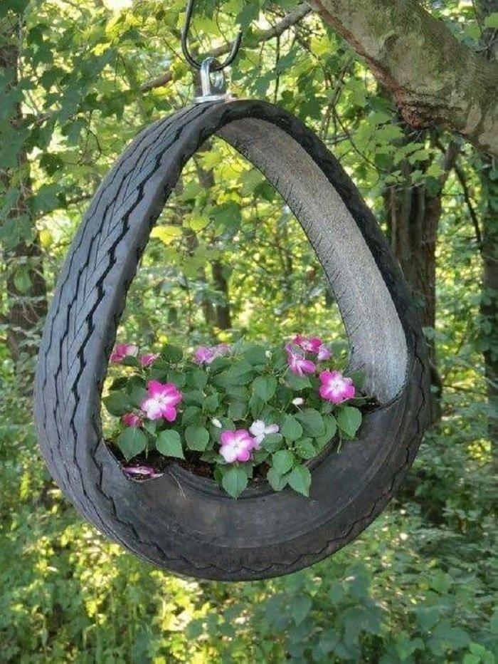 поделки из шин для сада