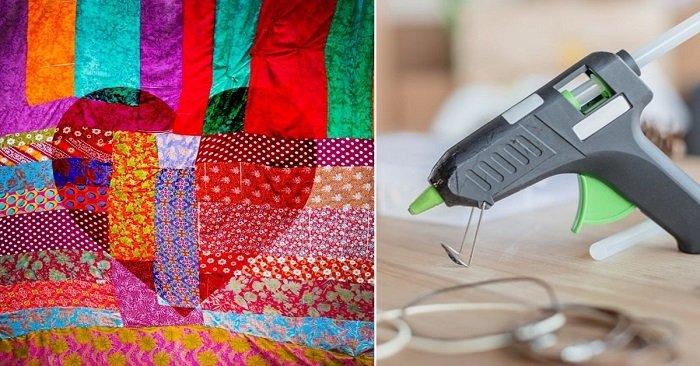 С помощью горячего клея и лоскутков ткани эта мастерица создает настоящие шедевры