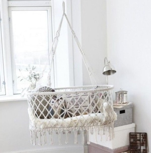 подвесная люлька в кроватку для новорожденных