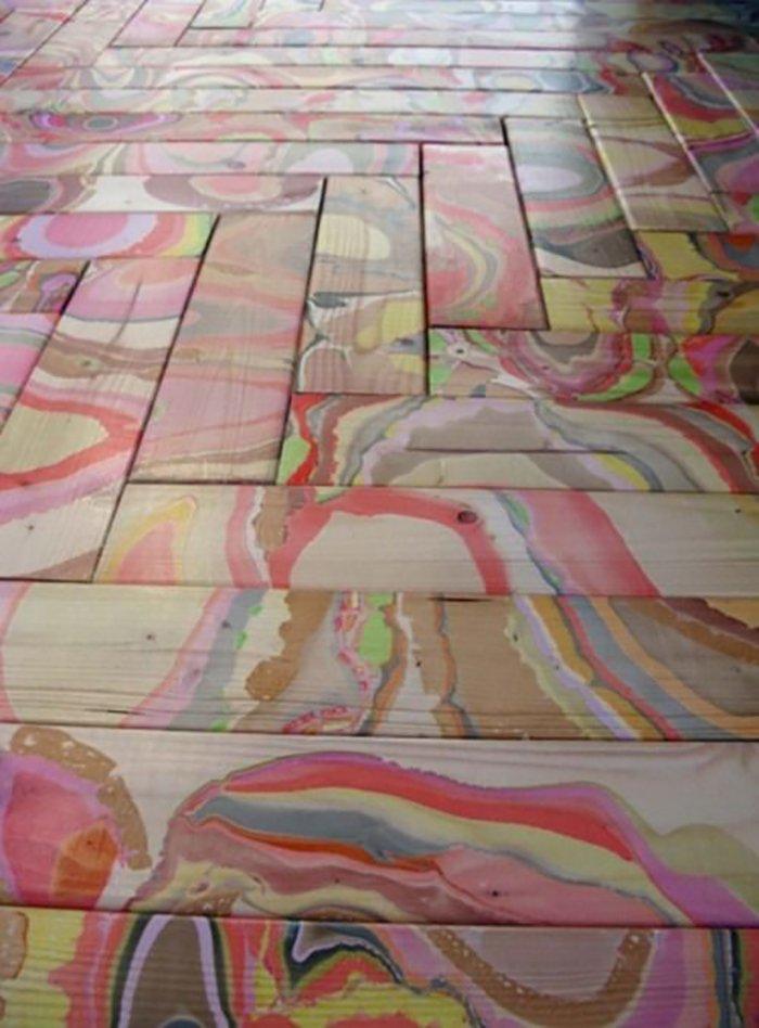 покраска старых деревянных полов