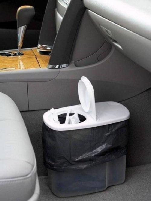 мусорное ведро в автомобиле