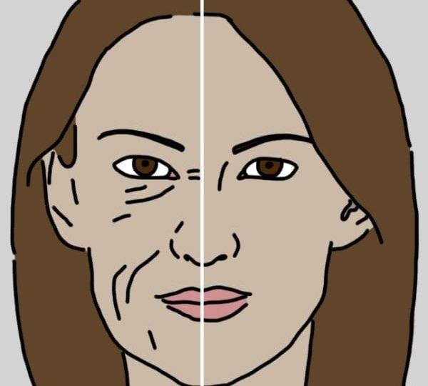 лицо до и после