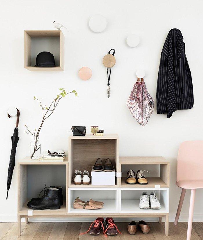 полка для обуви в узкий коридор