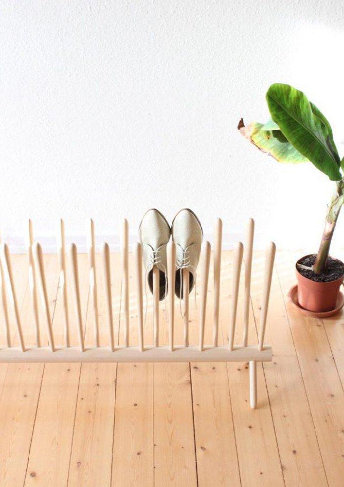 полка для обуви двухсекционная