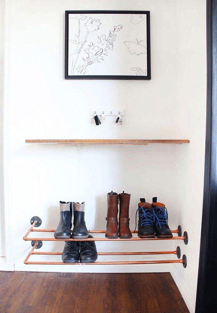 полка для обуви своими руками из металла