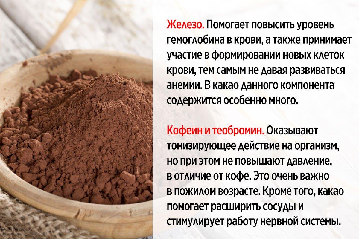 в чём польза какао для женщин