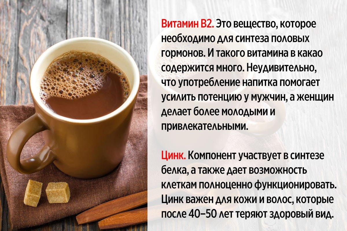 польза какао для женщин
