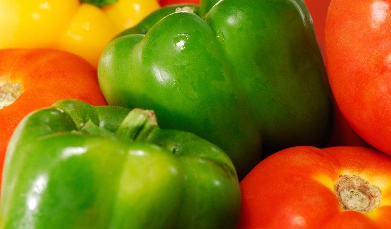 помидоры с перцем болгарским