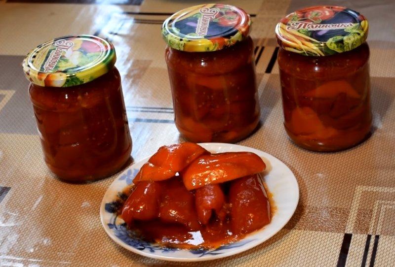 помидоры с перцем болгарским на зиму