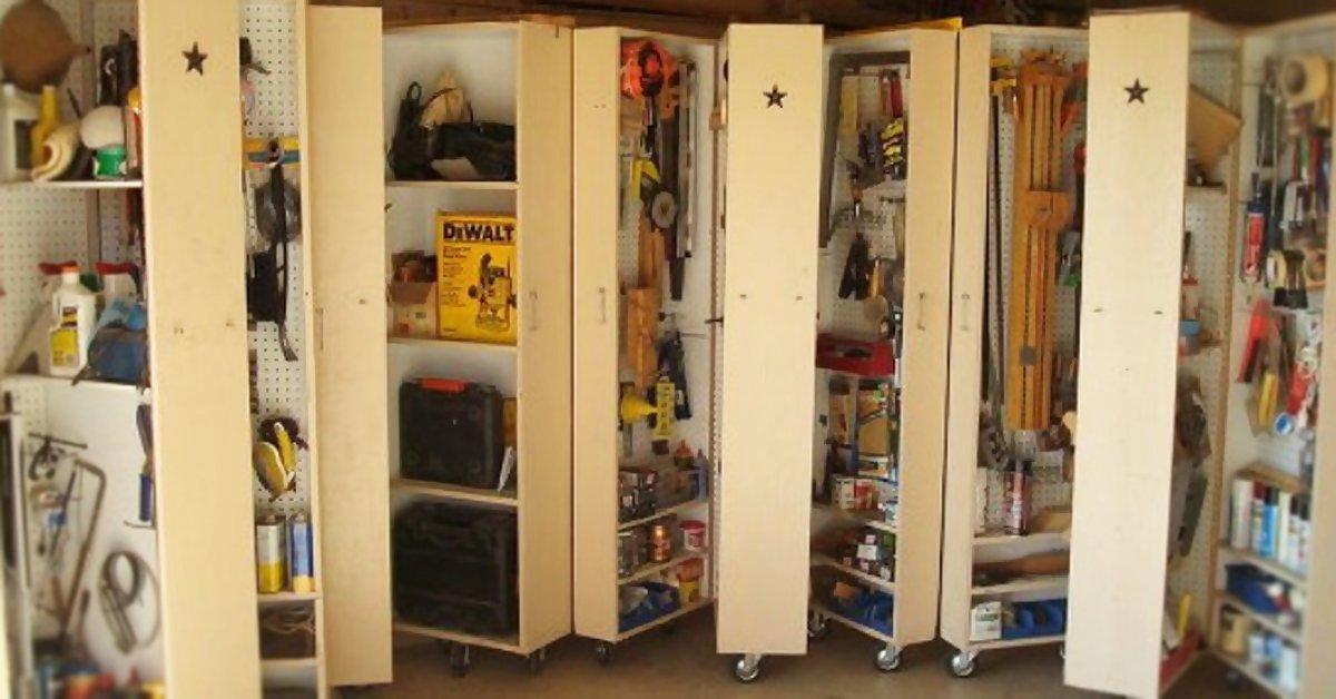 Хранение вещей в гараже своими руками
