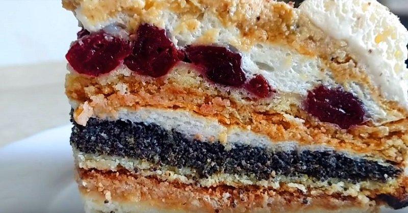 торт трио с шоколадными коржами