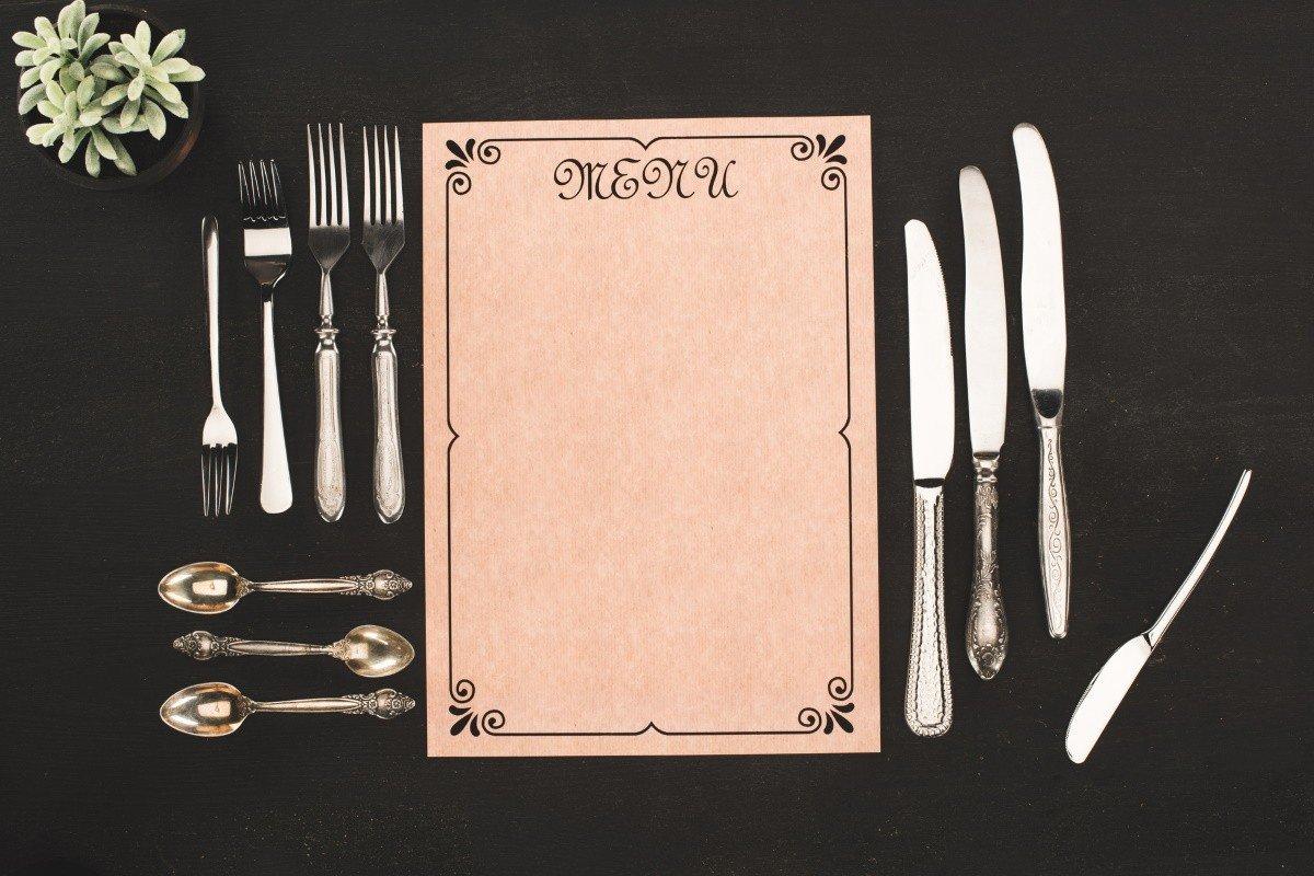 Посуда для сервировки стола и ее правильно расположение
