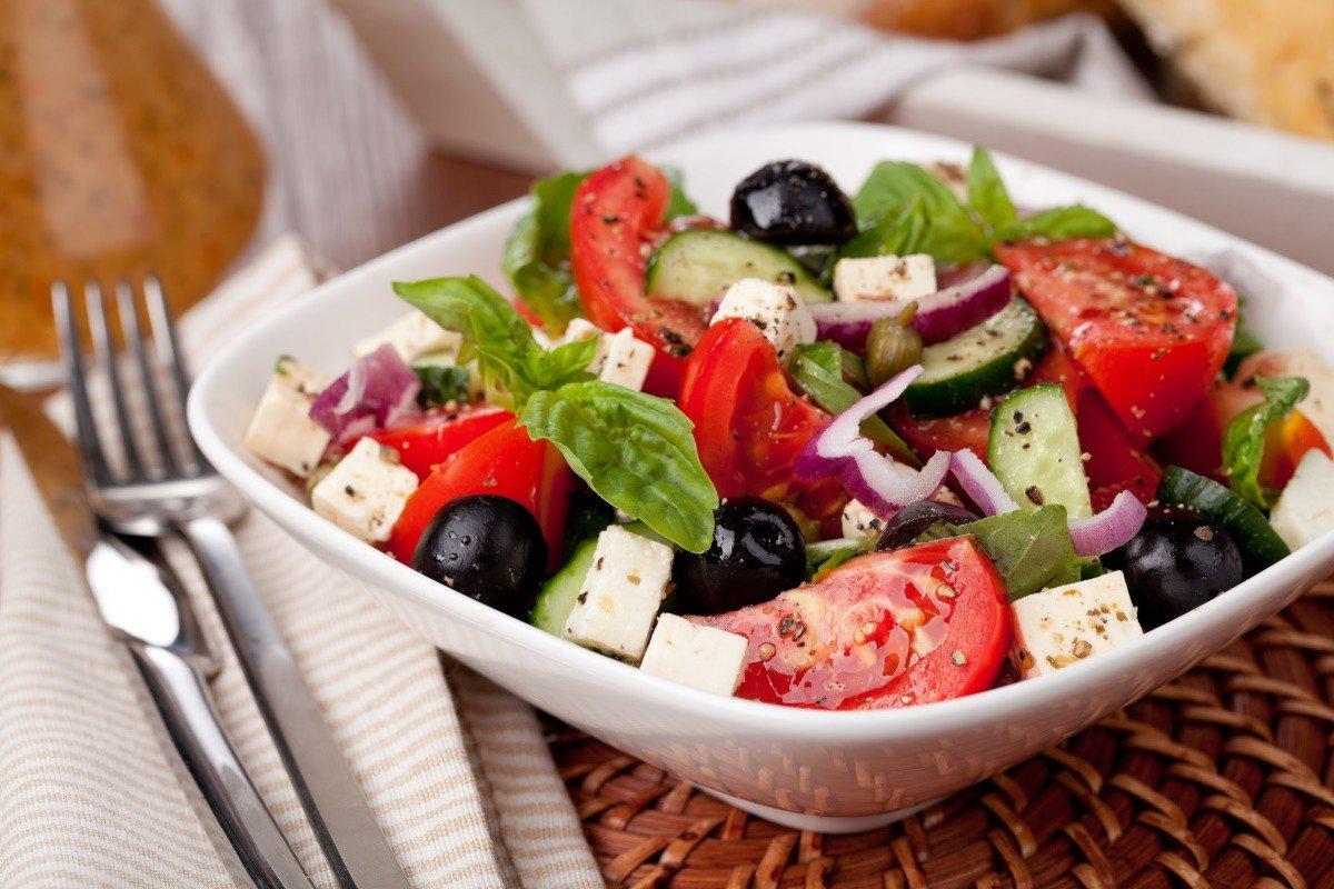 правильный греческий салат рецепт