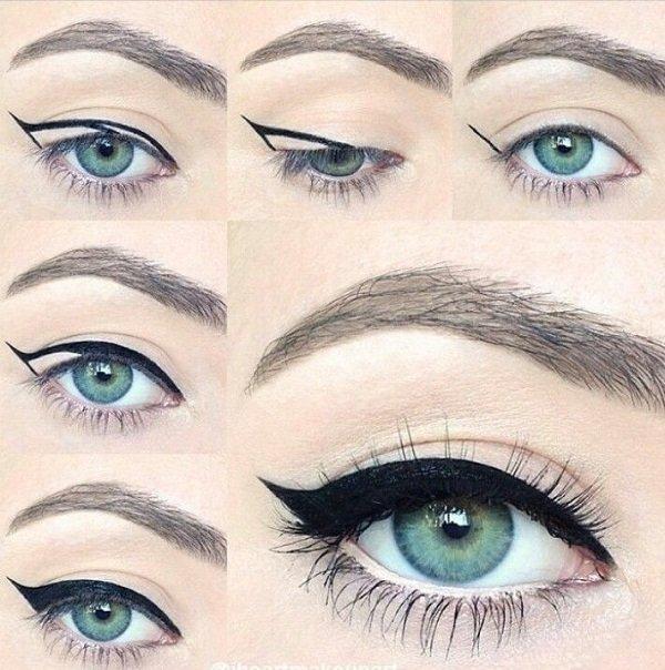 макияж глаз девушка