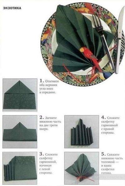 как складывать салфетку