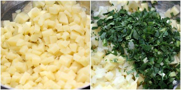лепешки с картофелем на сковороде