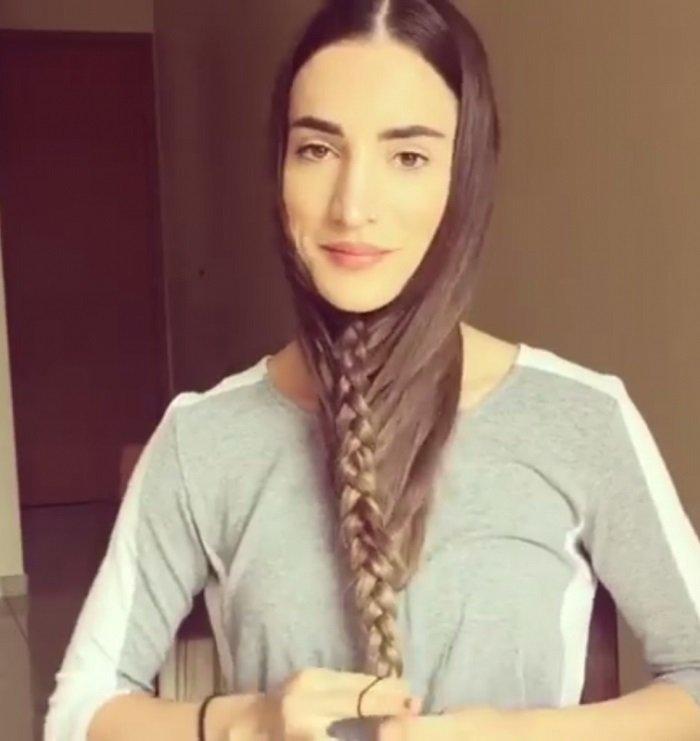 прическа на длинные волосы с плетением