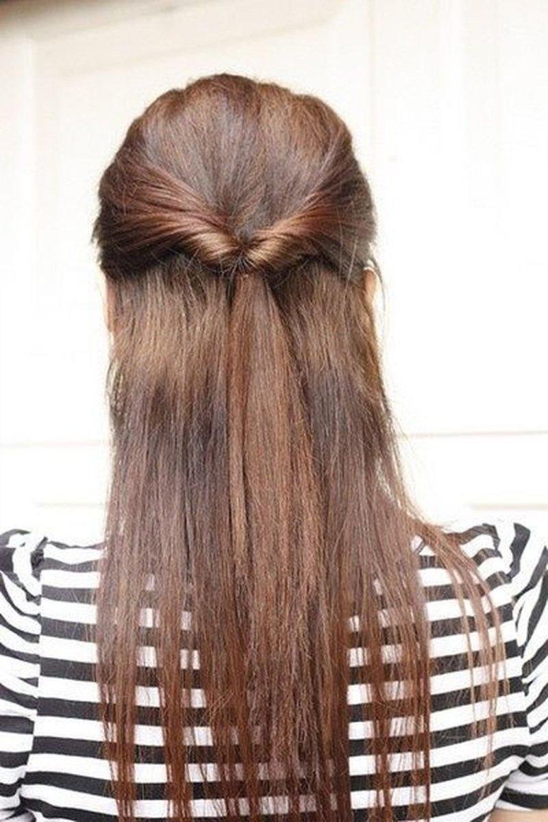 прическа за пять минут на длинные волосы