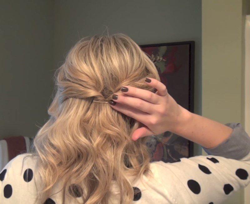 прическа за 10 минут на длинные волосы