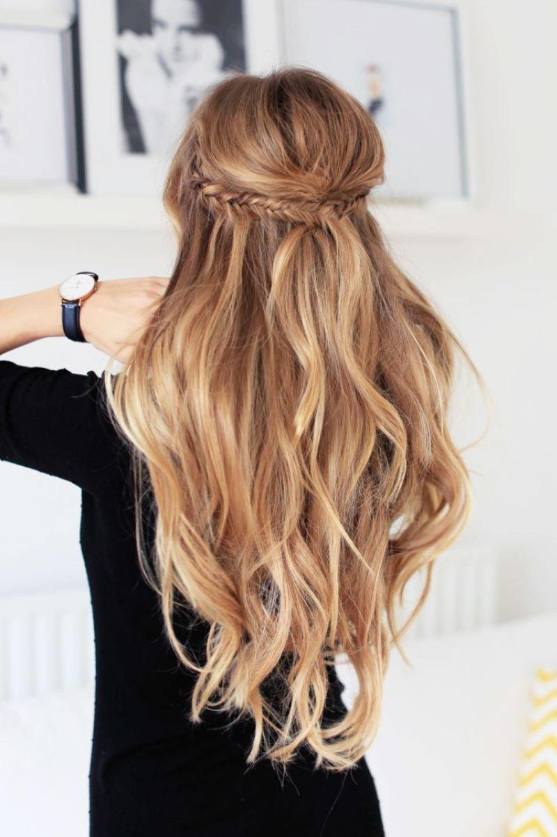 простая и красивая прическа на длинные волосы своими руками