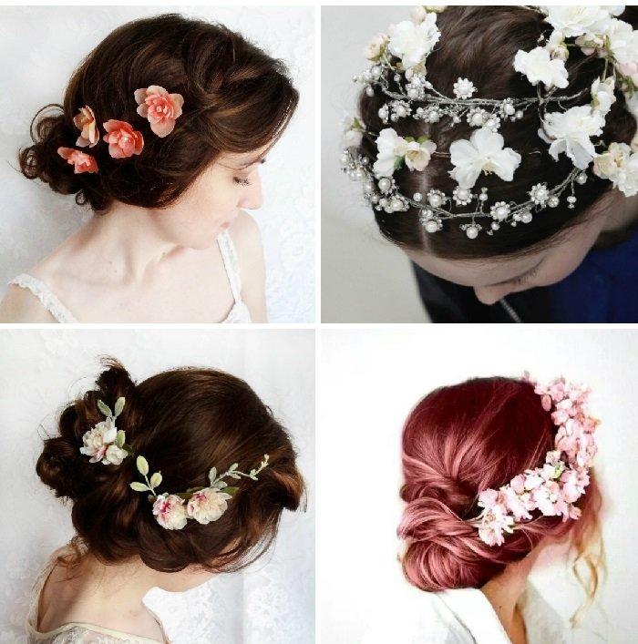 Цветы в пучок на свадьбу