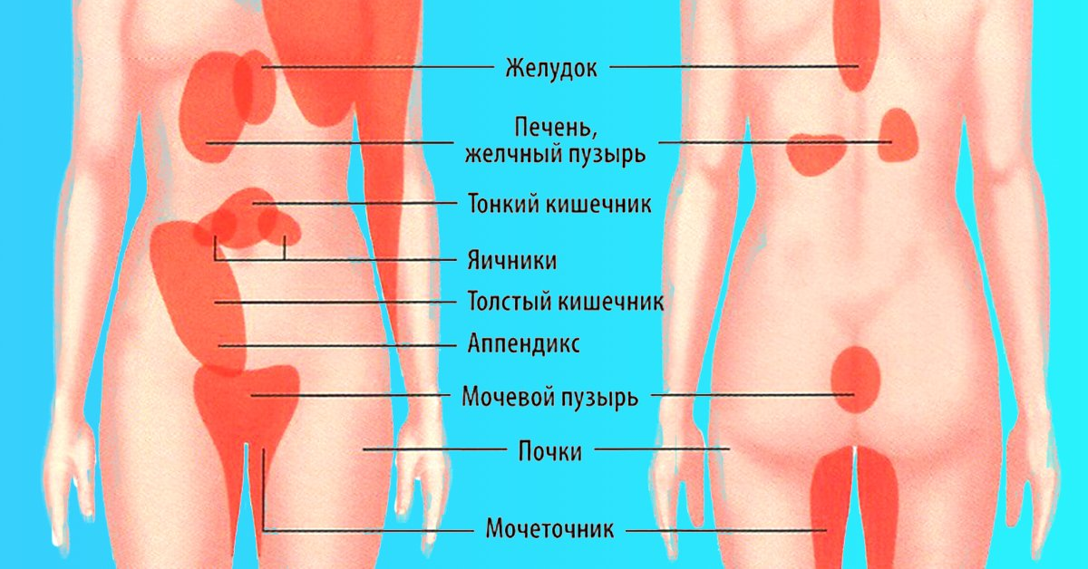 боли внизу живота слева отдает в спину