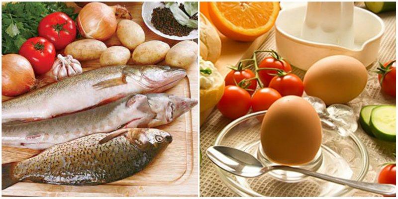 яйца и рыба