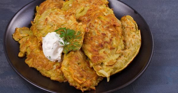 Potato Pancakes. Vegetable fritters, latkes, draniki