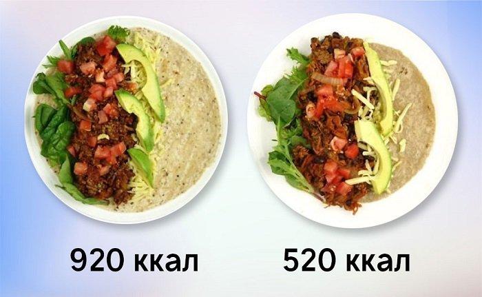 правильное питание меню