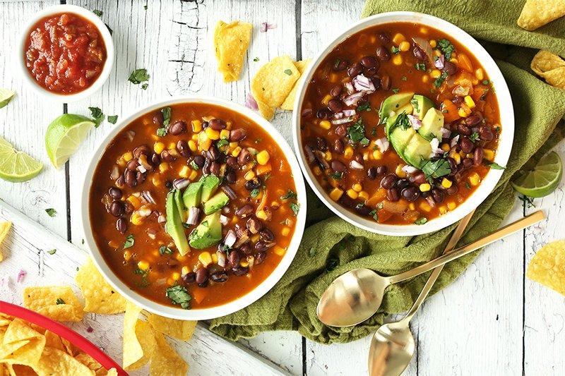 фасолевый суп дома