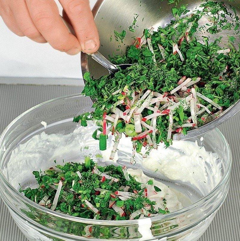 закуска из творога и зелени
