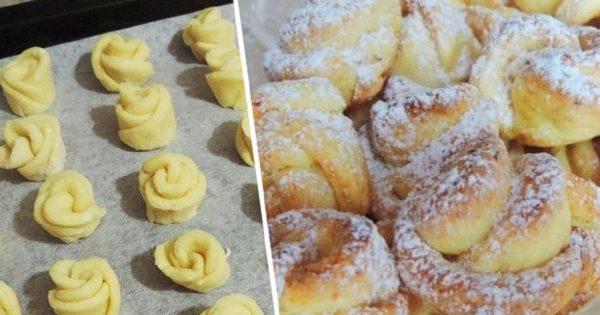 Творожное печенье «Роза»: потратила всего 20 минут, а едим всей семьей уже целую неделю!