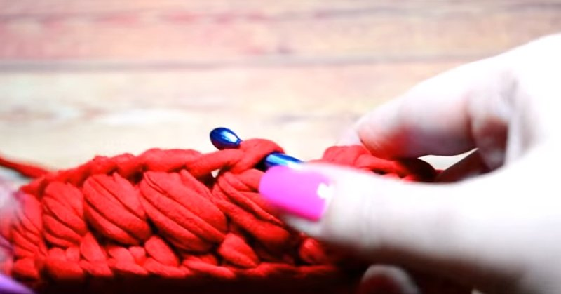 вязание крючком без накида