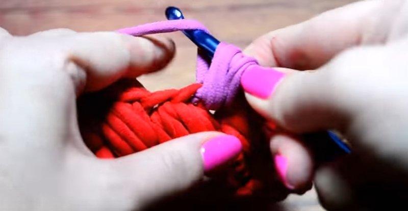 вязание крючком вытянутые петли