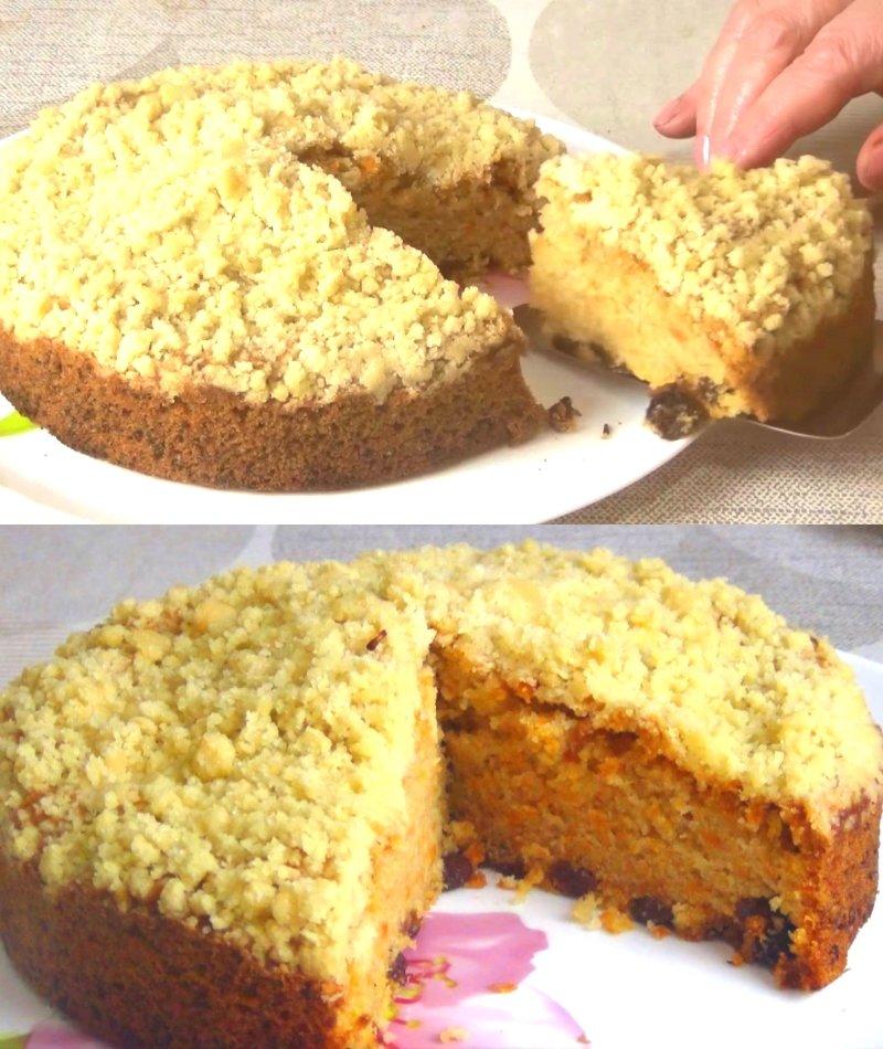 самый простой морковный пирог