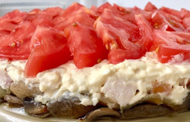 салат с шампиньонами грибная поляна