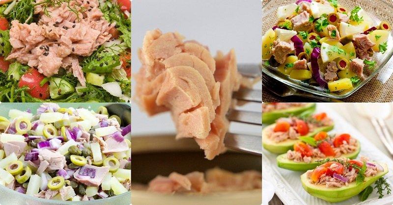 простой салат с тунцом без майонеза