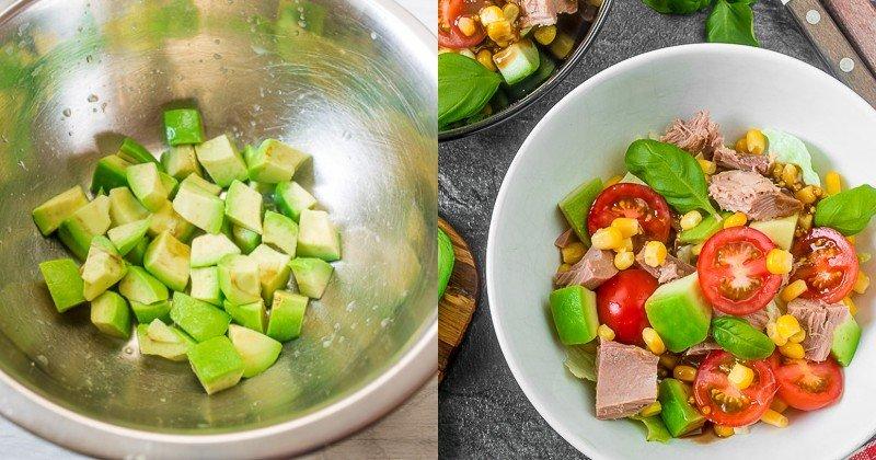 вкусный и простой салат с тунцом