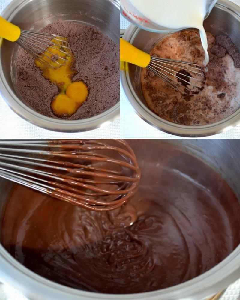 простой шоколадный пирог с кремом