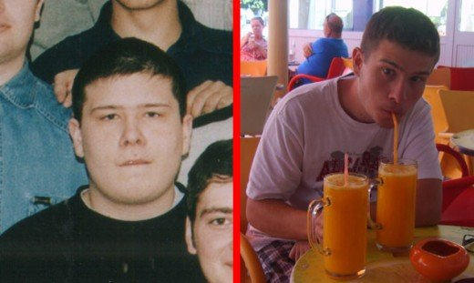 парень до и после