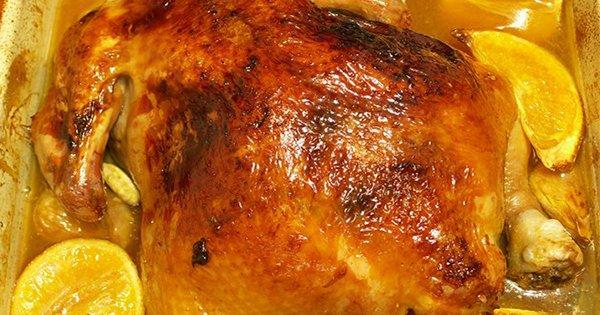 Курица в духовке с апельсинами рецепт с фото с картошкой