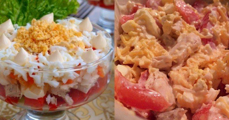 рецепт простых и быстрых салатов