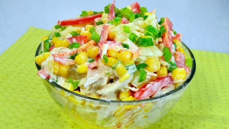 рецепты простых быстрых салатов