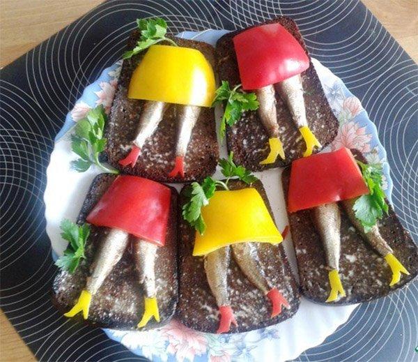 как украсить бутерброды для детей